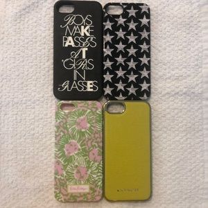 4 IPHONE 5 CASES-COACH, KATE SPADE, LILY PULITZER